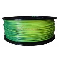 Cheap Toughness 3mm ABS color changing filament for 3D printer , blue green to yellow green for sale