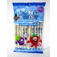 Best Long twist fruit flavor mashmallow / extra long and soft / nice-looking snack mashmallow wholesale
