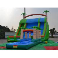 Best Colorful 0.55mmpvc Tarpaulin 8*6*5m Inflatable Slide With Swimming Pool For Outdoor Sports wholesale