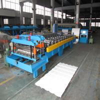 Best Colorful Metal Corrugated Board Roll Forming Machine Use Japanese Panasonic PLC Control and Hydraulic Cutting wholesale