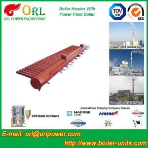 Best Water Tube Boiler Header Manifolds TUV Standard , Water Boiler Header wholesale