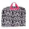 Cheap Folding Traveling Garment Bag 40'' Pink Trim Damask Silver Pewter Hardware wholesale