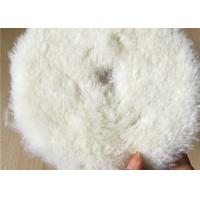 Cheap 3-10 Inches Durable Wool Polishing Pad Single / Double Sides With Customized Shape for sale