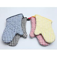 Best Durable Pot Holder Gloves , Cotton Oven Gloves Good Water Absorbtivity wholesale