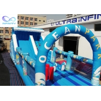 Best Giant outdoor Inflatable ocean park water slide with bounce house for rental or party wholesale