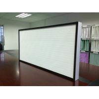 Best Glass Fiber Pleated HEPA Filter With Hot-Melt Beads Separator For Clean Room wholesale