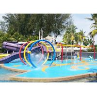 Best Customized Kids Water Playground Circles Spray With Galvanized Carbon Steel wholesale