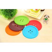 Best button shape silicone cup coaster/silicone rubber mat wholesale