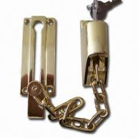 Buy cheap Brass-plated Chain Door Lock, Made of Zinc Alloy, OEM Orders are Accepted from wholesalers