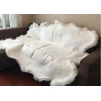 Cheap Real Sheepskin Rug Long lambswool Double Pelts Sheep Skin Hides for hotel lobby for sale