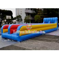 Best Customized Inflatable Sport Games , Mixing Color Inflatable Double Slide wholesale