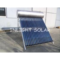 Quality Food Grade Pressurized Solar Water Heater With 20 Tubes Aluminum Reflector Frame wholesale