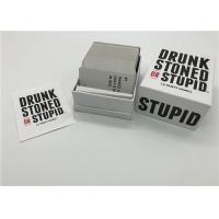 Best 250 Pcs Drunk Party Games , Drunk Stoned And Stupid Cards English Version wholesale