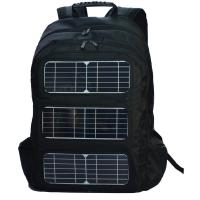 Best Black Shoulder Strap Solar Charging Backpack For Outdoor Travel wholesale