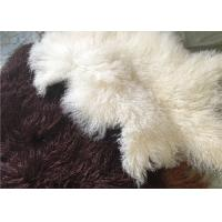 Best Long curly Sheepskin Material Natural White Tibetan lambswool Mongolian fur hides wholesale