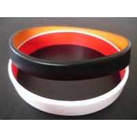 Best 2 layers silicone bracelet, Top quality two layers silicone bracelet, Custom made colors wholesale