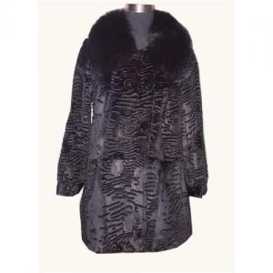 China Rabbit fur coat with fox fur collar on sale