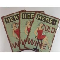 Best Restaurant Vintage Tin Plate Signs Home Decoration Personalized Metal Signs wholesale
