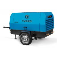 Best twin stage belt drive 70kw portable air compressor with jack hammer wholesale