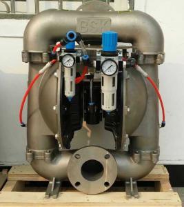China Powder Pump Air Driven Double Diaphragm Pump For Powder Transfer 75 Micron Bulk Density 0.88 on sale