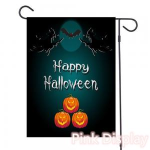 Best Pink Display Silkscreen Decorative Halloween Flags wholesale