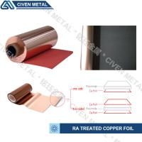 Best TREATED RA COPPER FOIL/THICKNESS:12/18/25/35/50UM/COLOR:RED AND BLACK wholesale