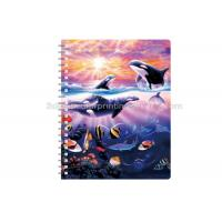 Cheap Sexy Girl Design Notebook 3D Lenticular Printing Service Journals PET / PP / PVC for sale