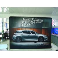 Best 8FT Exhibition Tension Fabric Trade Show Displays Backwall Straight Shape wholesale