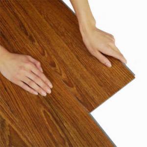 Cheap flame retardant long warranty UV coating embossed PVC click lock vinyl flooring for sale