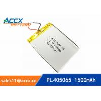 Best pl405060 3.7V lithium polymer battery with 1500mAh rechargeable battery for GPS, beauty apparatus wholesale