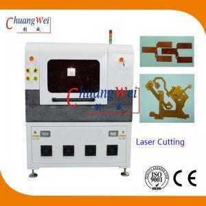 Quality Laser Cutting PCB Depaneling Machine , 17 Watt UV Laser Cutter Equipment wholesale