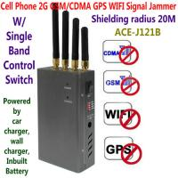 Best 4 Antenna Handheld Cell Phone 2G GSM GPS WIFI Signal Jammer Blocker W/ Single Band Switch wholesale