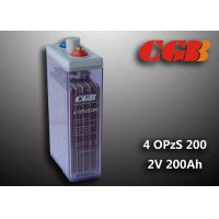 Best 2V 4 OPzS200 Tube Vented ABS Opzs Batteries Solar Energy Storage Application wholesale