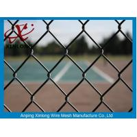 Best Green PVC Coated Chain Link Fence 50*50mm Fence Screen for Tennis Court wholesale