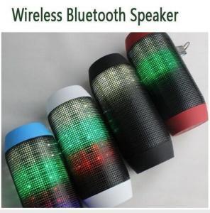 Best Mini Wireless Bluetooth Pulse Speaker Support NFC Subwoofer Colorful 360 LED lights U-disk wholesale