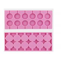 Best Durable Pink 12 Cavity Chocolate Candy Molds 100% Food Grade wholesale