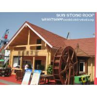 China Cheapest prices stone coated steel roofing tiles / Sunstone roof on sale