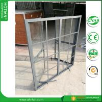Cheap China alibababa hot sale steel casement window in glazing black steel frame with for sale