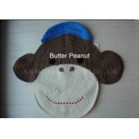 Best Durable Monkey Shape Crochet Floor Rug 60cm Knitted Crochet Kitchen Rug wholesale
