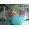 Custom 5m PVC Durable Inflatable Globe Ball Helium For Tade Show