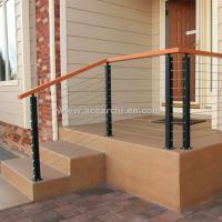 Best Stainless Steel Wire Decking Balustrade with Oak Wood Top Handrail wholesale