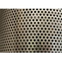 Best Sliver Galvanized Perforated Metal Mesh ISO9001 Approval 2mm Round Hole wholesale