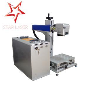 Best Blue 10W Fiber Laser Marking Machine, Pipe Laser Marking Engraving Machine wholesale
