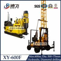 Best 600m depth engineering water well drilling rig machine XY-600F with mud pump wholesale