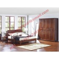 China Modern Chinese Style Design Solid Wood Bedroom Furniture Sets on sale