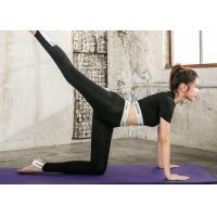 China Summer Sexy Fashion Yoga Sportswear Suits Quick Dry Black / White Color For Gym on sale