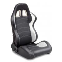 Best Sparco Style Leather Racing Sport Auto Car Seats / Black And White Racing Seats wholesale