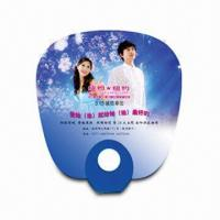 Best Hand Fan for Promotional Purposes, Made of PP, Customer's Logo Printings are Available wholesale