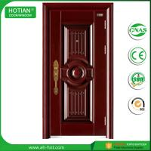 Best made in china solid steel exterior safety door front metal doors price wholesale