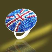 Best 925 Sterling Silver Crystal Flag Ring (RSL3984) wholesale
